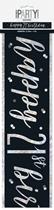 Black Glitz 21st Birthday Foil Banner 9ft