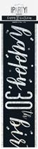 Black Glitz 30th Birthday Foil Banner 9ft