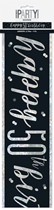 Black Glitz 50th Birthday Foil Banner 9ft