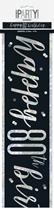 Black Glitz 80th Birthday Foil Banner 9ft
