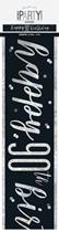 Black Glitz 90th Birthday Foil Banner 9ft