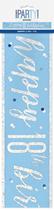 Blue Glitz 18th Birthday Foil Banner 9ft