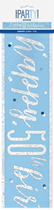 Blue Glitz 50th Birthday Foil Banner 9ft