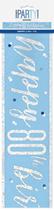 Blue Glitz 80th Birthday Foil Banner 9ft