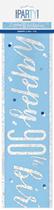Blue Glitz 90th Birthday Foil Banner 9ft