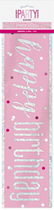 Pink Glitz Happy Birthday Foil Banner 9ft