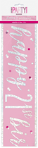 Pink Glitz 21st Birthday Foil Banner 9ft