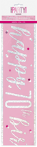 Pink Glitz 70th Birthday Foil Banner 9ft