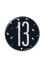 "Black Glitz 13th Birthday 3"" Badge"