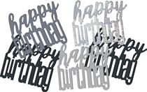 Black Glitz Happy Birthday Foil Confetti 14g