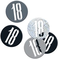 Black Glitz 18th Birthday Foil Confetti 14g