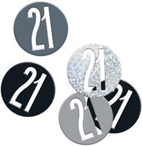 Black Glitz 21st Birthday Foil Confetti 14g