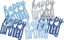 Blue Glitz Happy Birthday Foil Confetti 14g