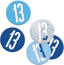 Blue Glitz 13th Birthday Foil Confetti 14g