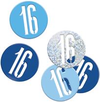 Blue Glitz 16th Birthday Foil Confetti 14g