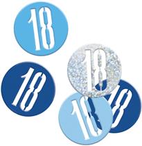 Blue Glitz 18th Birthday Foil Confetti 14g