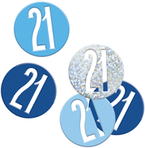 Blue Glitz 21st Birthday Foil Confetti 14g
