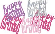 Pink Glitz Happy Birthday Foil Confetti 14g