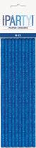 Blue Glitz Foil Paper Straws 10pk
