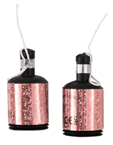 Rose Gold Glitz Party Poppers 20pk