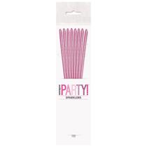 "Pink Glitz 7"" Cake Sparklers 8pk"