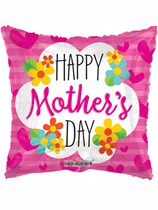 """Happy Mother's Day Pink Square 18"""" Foil Balloon"""