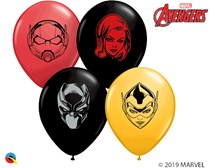 "Marvel Avengers Faces 5"" Assorted Latex Balloons 100pk"