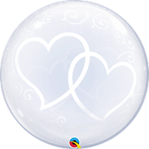 """Entwined Hearts 24"""" Deco Bubble"""