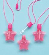 Star Shaped Bubble Blow Necklace Party Favours 4pk