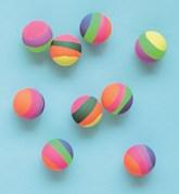 Pastel Stripe 35mm Bouncy Balls 8pk