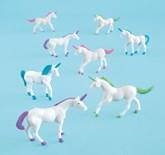 Plastic Unicorn Figurine Party Favours 8pk