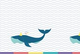 Arctic Whale Party Plastic Tablecover