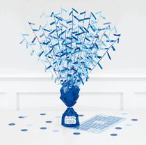 Blue Glitz Centrepiece With Stickers