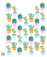 Cactus Plastic Party Bags 6pk