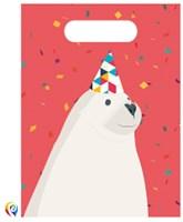 Arctic Polar Bear Plastic Party Bags 6pk