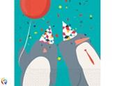 Arctic Penguins Party 2-ply Napkins 20pk