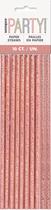 Rose Gold Glitz Foil Paper Straws 10pk