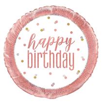 "Rose Gold Glitz Happy Birthday 18"" Foil Balloon"