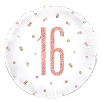 "Rose Gold Glitz 16th Birthday 18"" Foil Balloon"