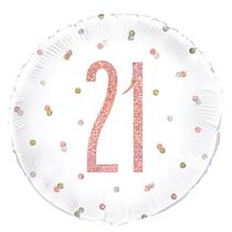 "Rose Gold Glitz 21st Birthday 18"" Foil Balloon"