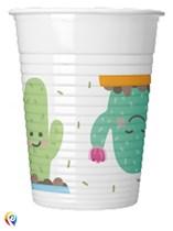 Cactus Party 200ml Plastic Cups 8pk