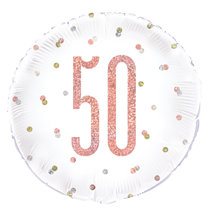"Rose Gold Glitz 50th Birthday 18"" Foil Balloon"