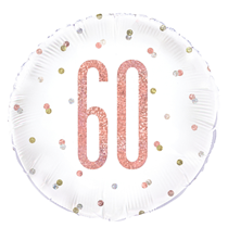 "Rose Gold Glitz 60th Birthday 18"" Foil Balloon"