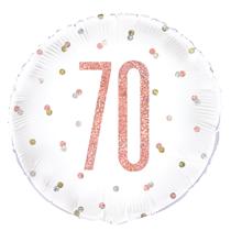 "Rose Gold Glitz 70th Birthday 18"" Foil Balloon"