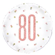 "Rose Gold Glitz 80th Birthday 18"" Foil Balloon"