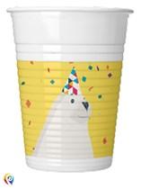 Arctic Polar Bear 200ml Plastic Cups 8pk