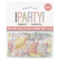 Rose Gold Glitz Happy Birthday Foil Confetti 14g