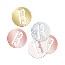 Rose Gold Glitz 13th Birthday Foil Confetti 14g