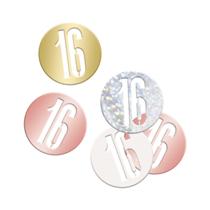 Rose Gold Glitz 16th Birthday Foil Confetti 14g