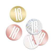 Rose Gold Glitz 18th Birthday Foil Confetti 14g